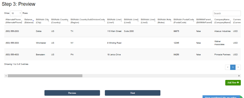 import customer list into quickbooks
