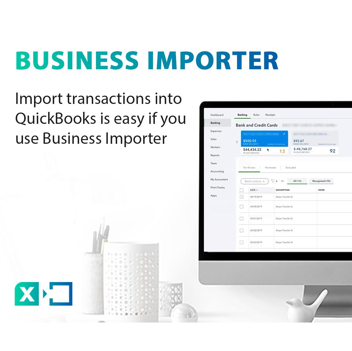 Import data into QuickBooks