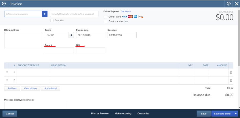 transactions import in QuickBooks Online