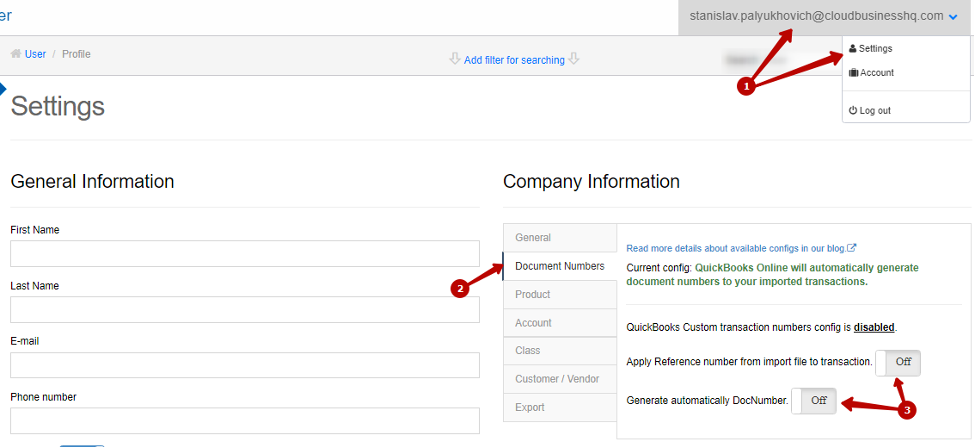 Keep your QuickBooks Online Reference Numbers