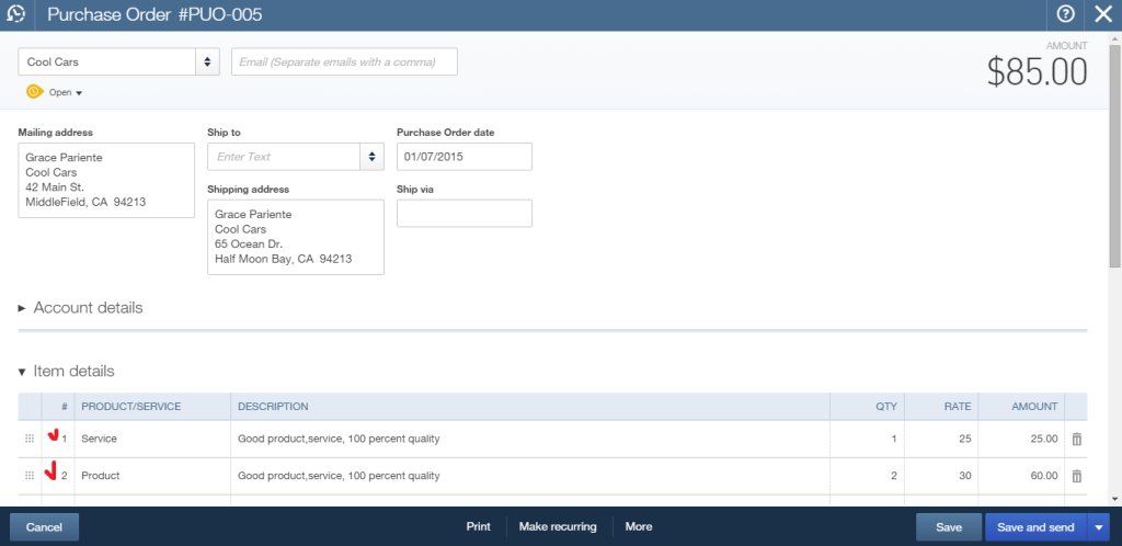 import multilined transactions into QuickBooks Online