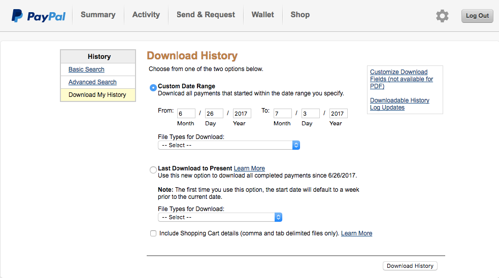 Import PayPal transactions into QuickBooks Online