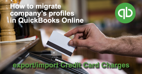 Credit Card Charges QuickBooks