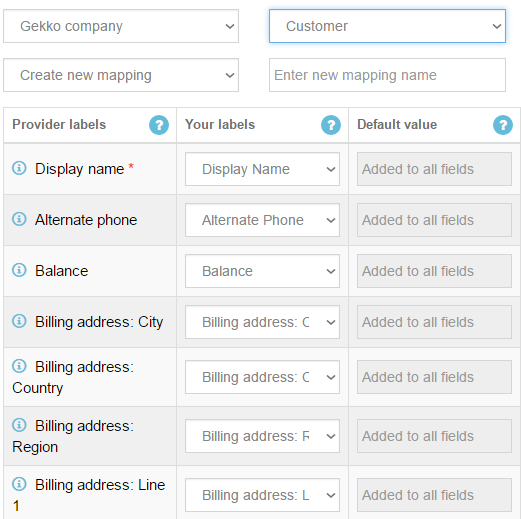 customer mapping