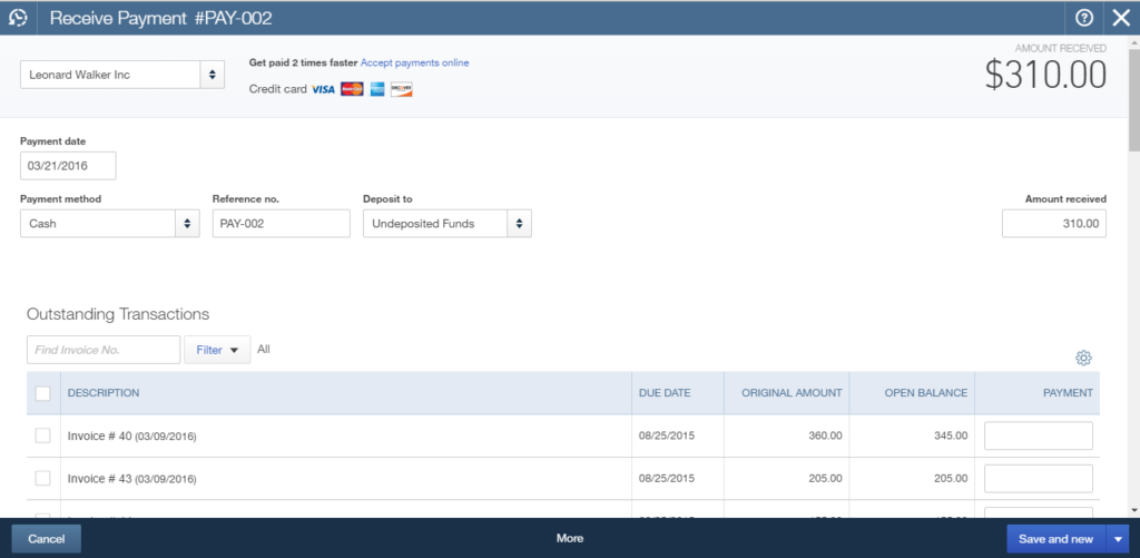 import payments to quickbooks online