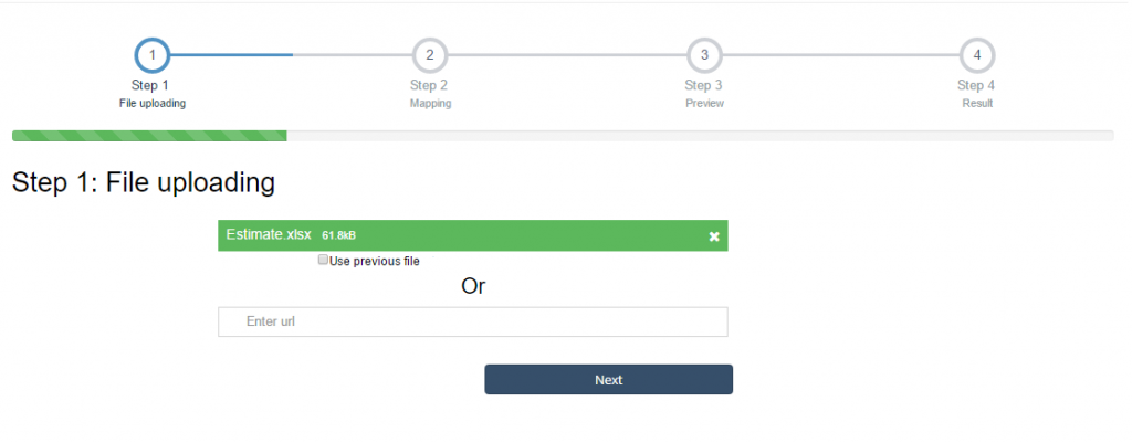 import estimates into QuickBooks Online