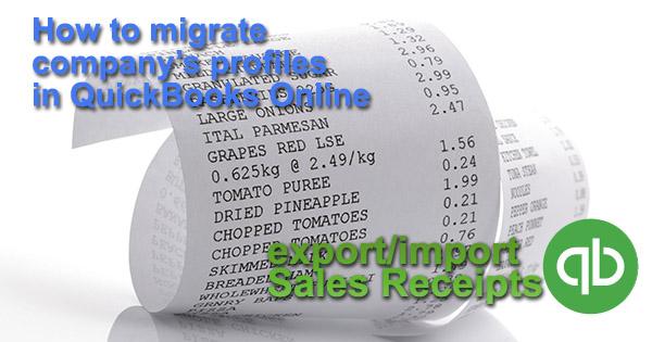 import sales receipts into quickbooks online