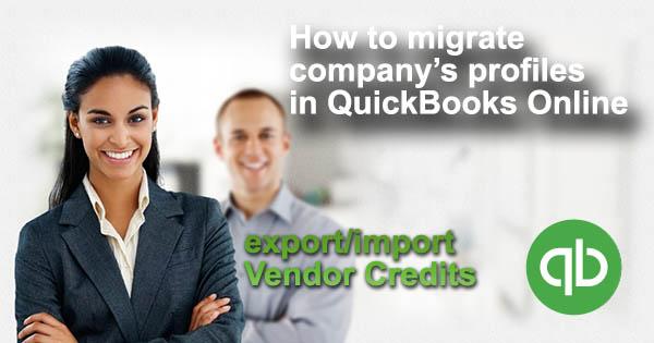 import vendor credits into QuickBooks Online