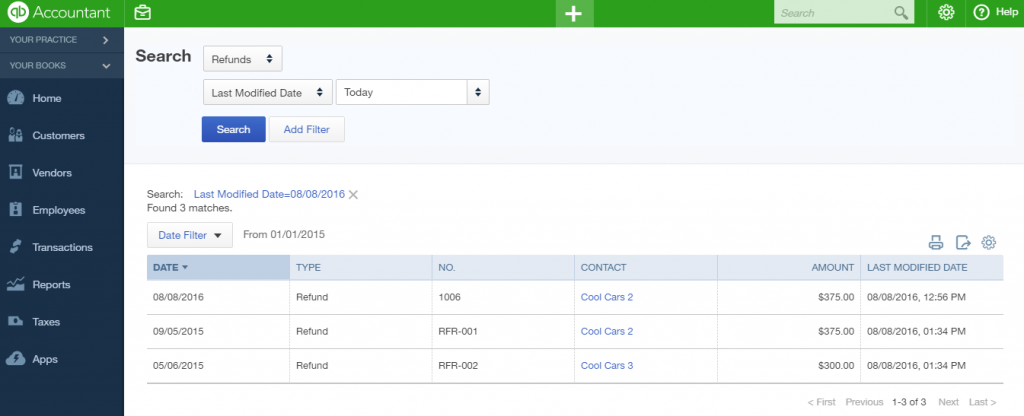 import Refund Receipts into QuickBooks Online