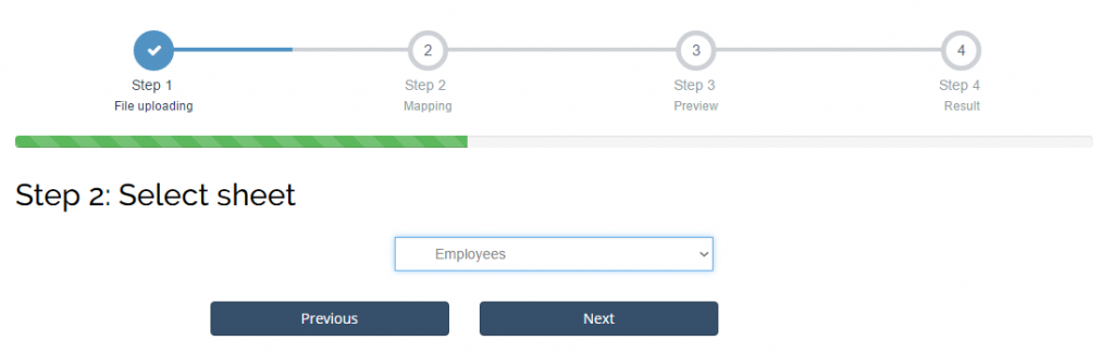 import employees into Xero: choose a list