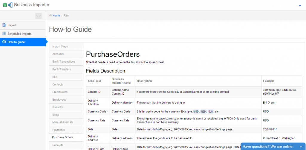 import Purchase Orders into Xero: How-to-Guide