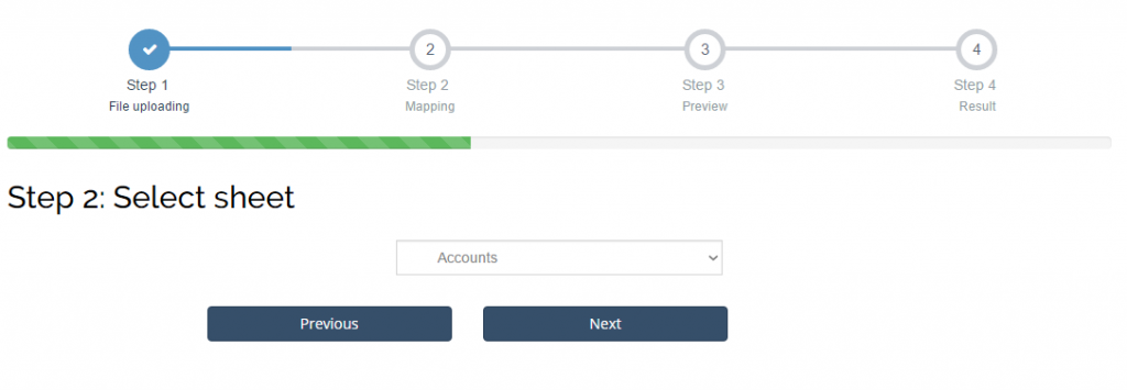 import accounts into Xero