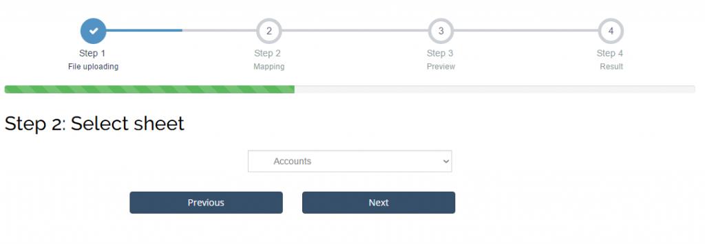 import accounts into Xero