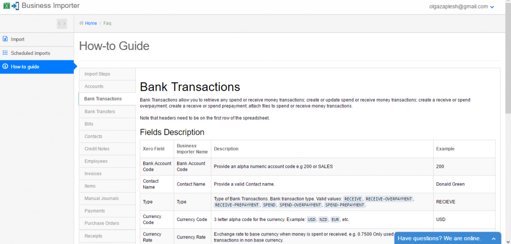 import bank transactions into Xero - result in Xero - how-to guide