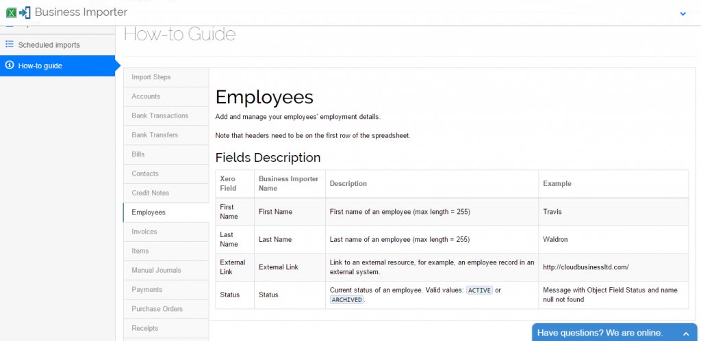 import employees into Xero: how-to guide