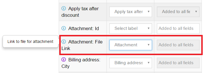 QuickBooks attachments