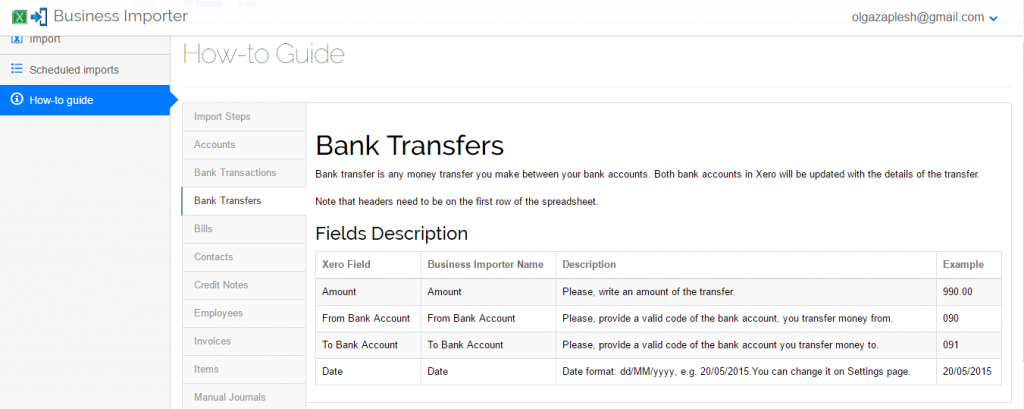 import Bank Transfers into Xero: How to guide