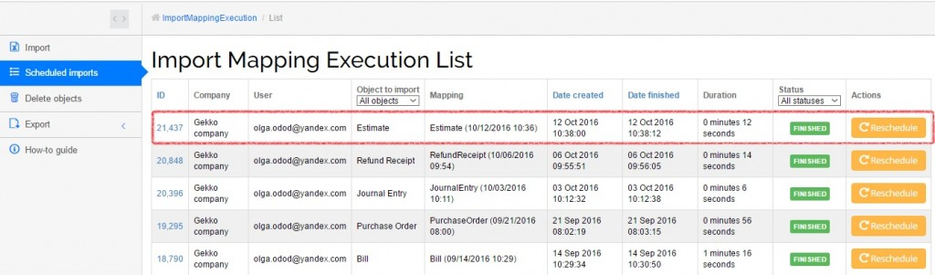 export and import estimates in quickbooks online - results