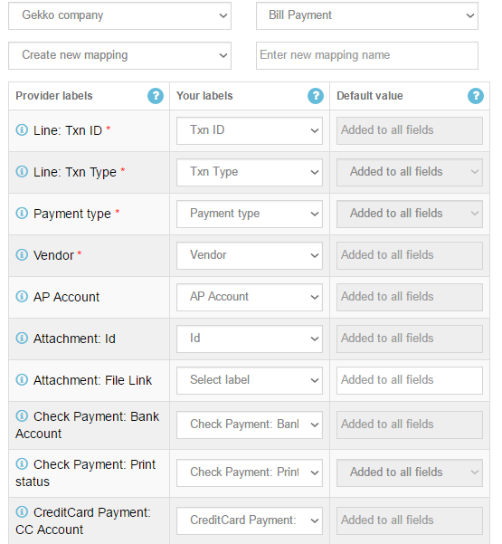 import and export Bill Payments in QuickBooks Online
