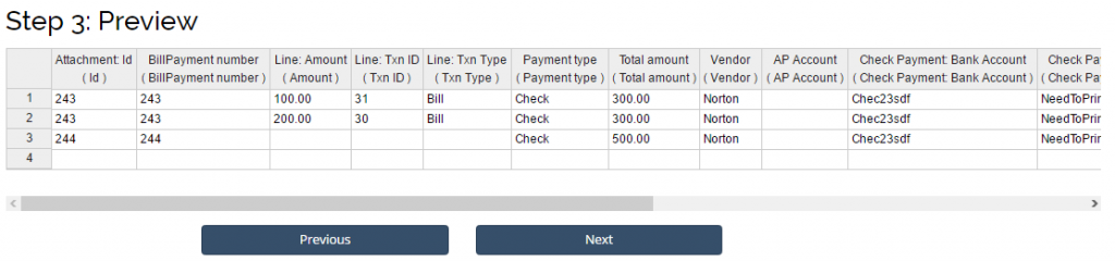 import and export Bill Payments in QBO