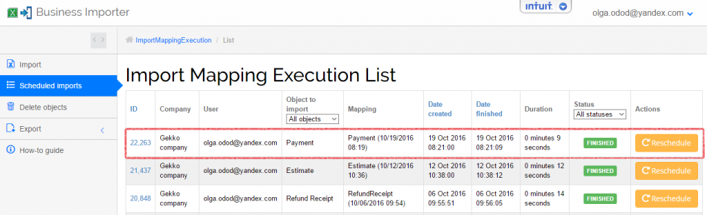 import and export payments in quickbooks online