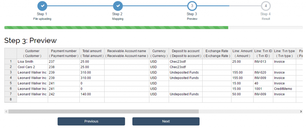import payments in quickbooks online