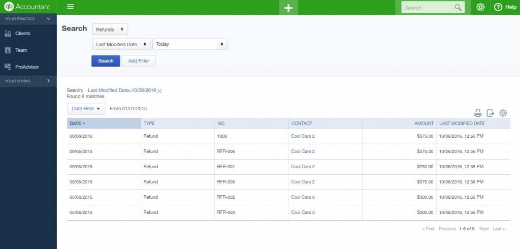 Export Refund Receipts from QuickBooks Online