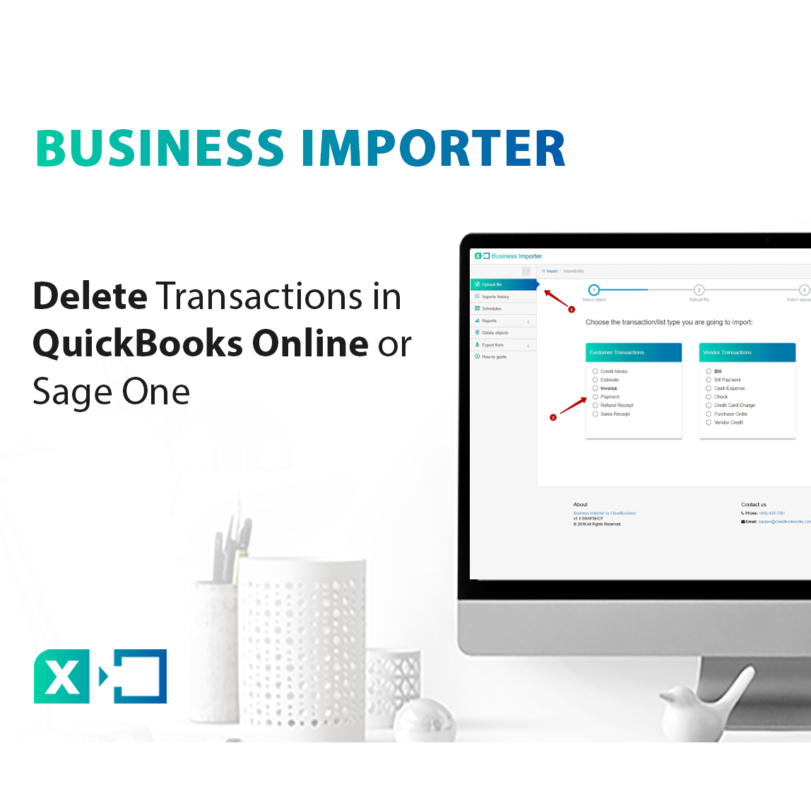 How to delete transactions in QuickBooks Online or Sage One