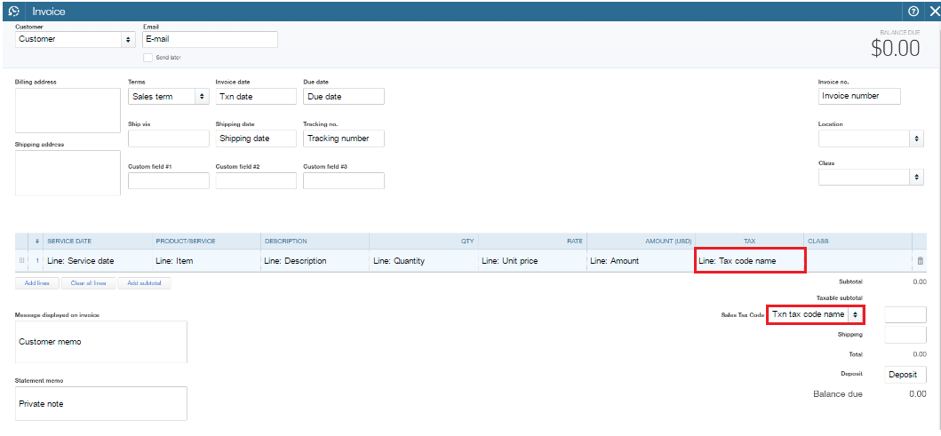 How to apply Ta to Transactions for US clients in QuickBooks ... Quickbooks Tax Line Mapping on