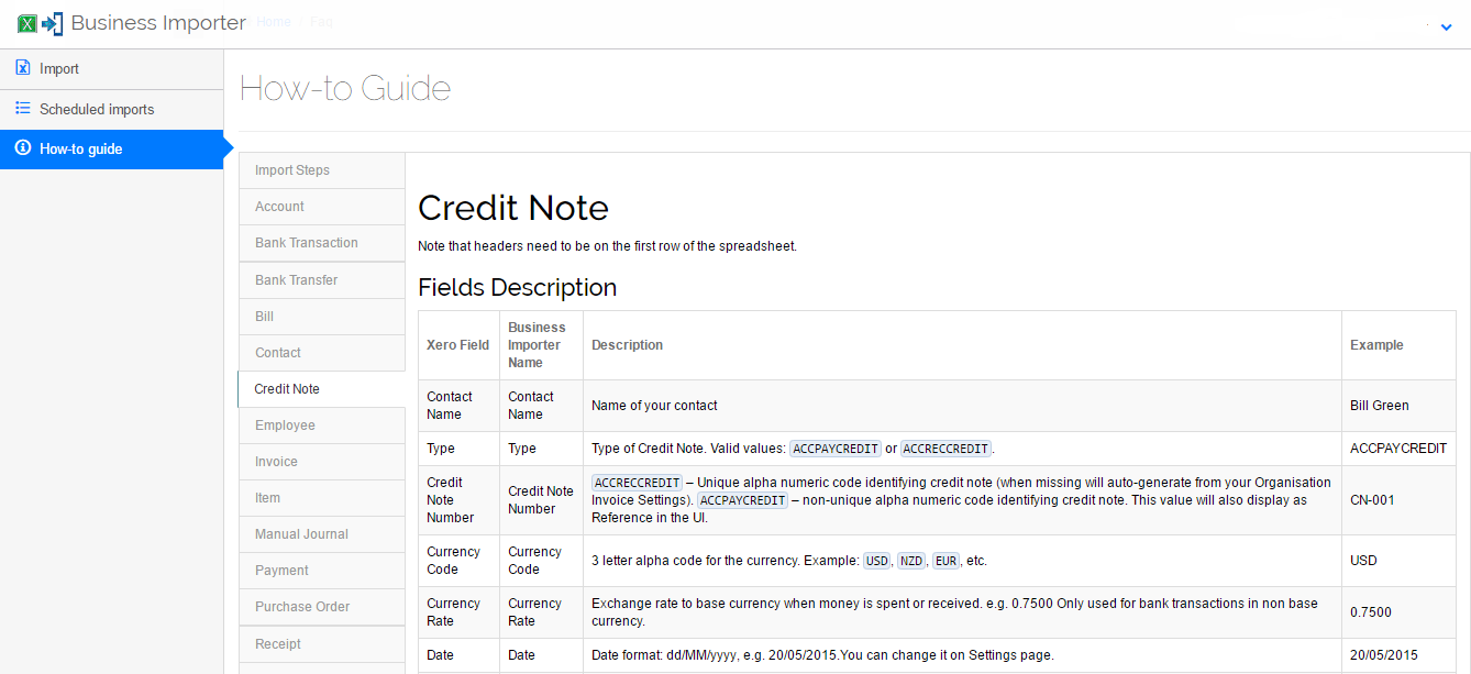 How To Guide To Import Credit Notes Into Xero
