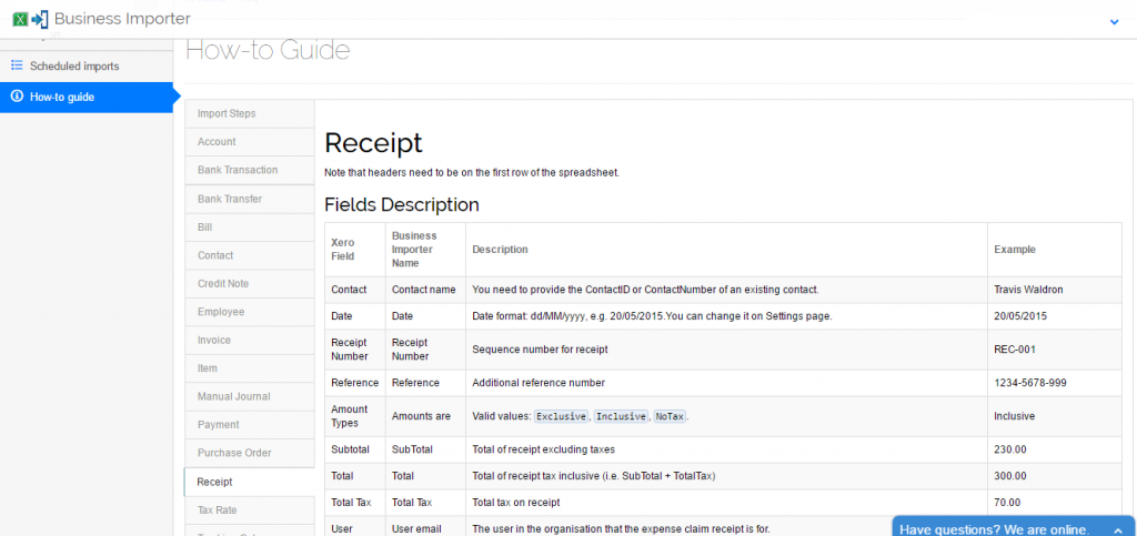 Import Receipts into Xero: how to guide