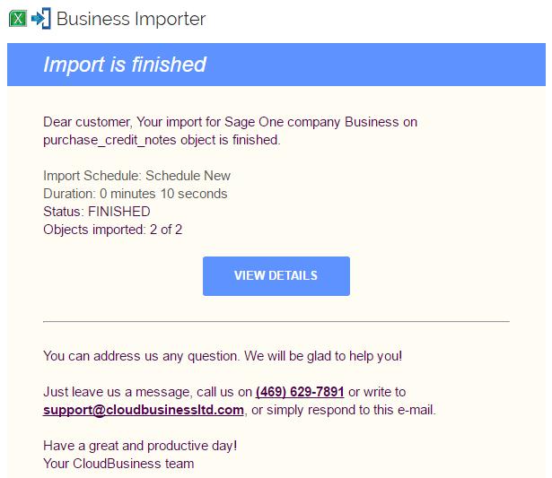 email notif