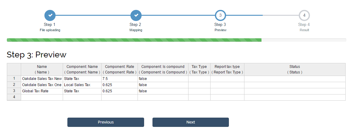 how to import tax rates into xero using business importer cloud