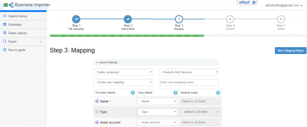Update Products and Services in QuickBooks Online