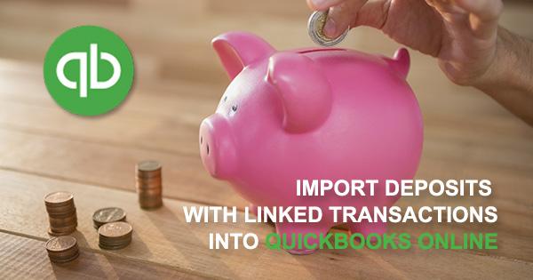 import deposits into QuickBooks Online