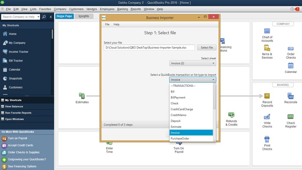 Import Invoices Into QuickBooks Desktop Using Business Importer - Import invoices into quickbooks