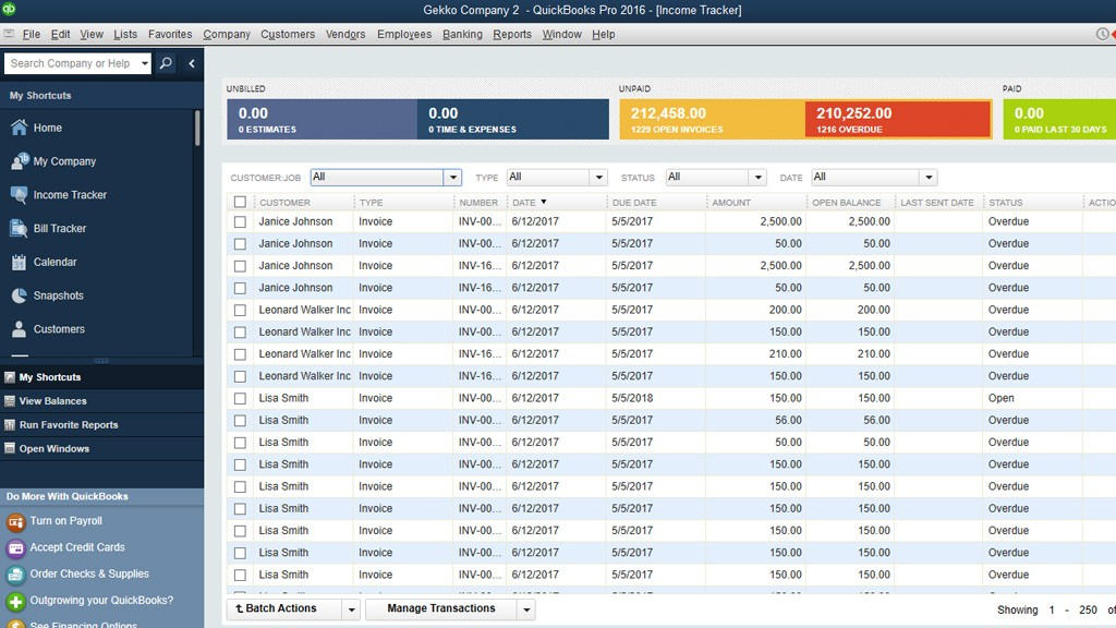 Import invoices into QuickBooks Desktop: Ready import in QuickBooks Desktop