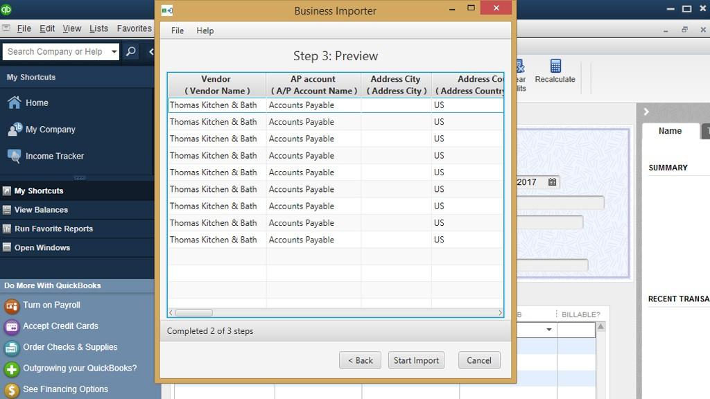 import Bills into QuickBooks Desktop: Preview