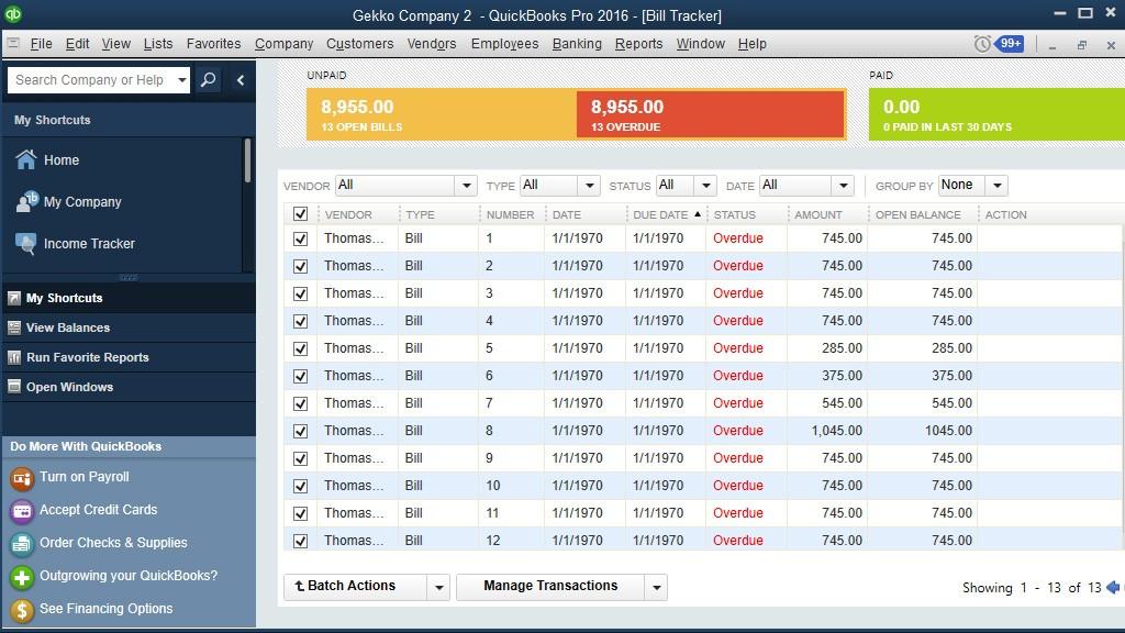 import Bills into QuickBooks Desktop: result in QuickBooks