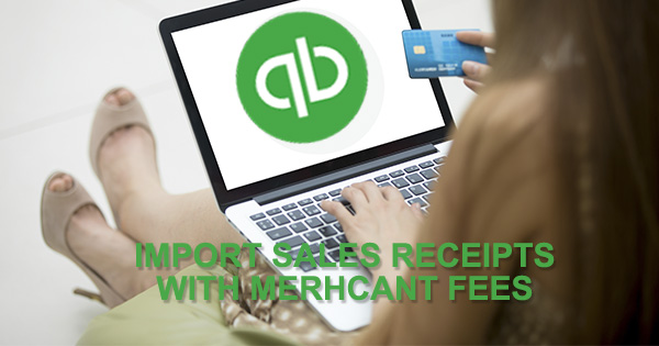 sales receipts with merchant fees