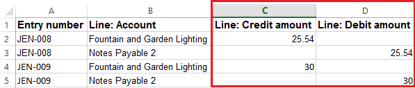 1 - Excel with Separate Columns