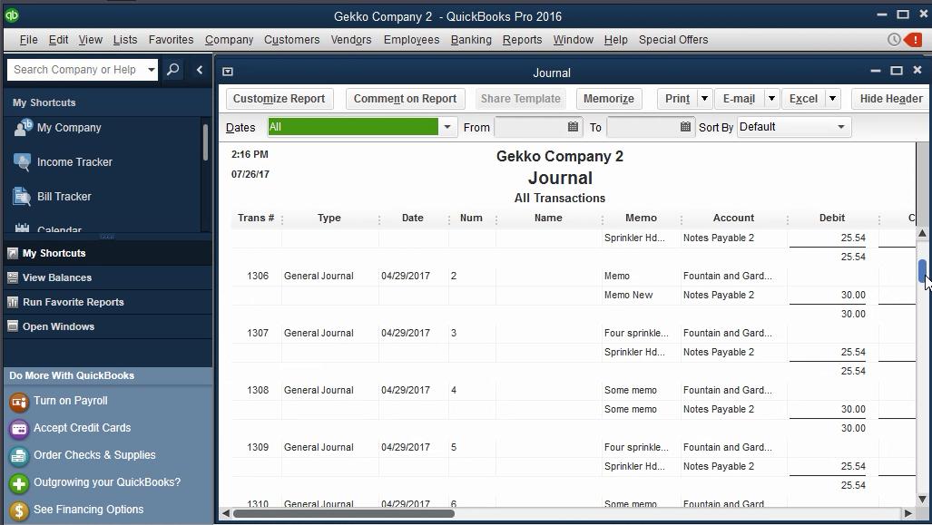 Import Journal Entries into QuickBooks Desktop using Business