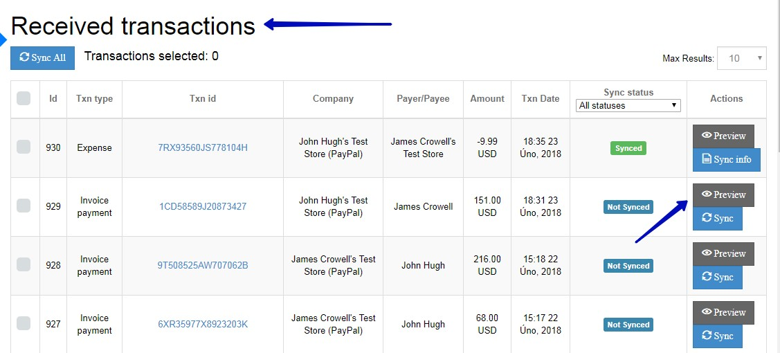 sync paypal with quickbooks online
