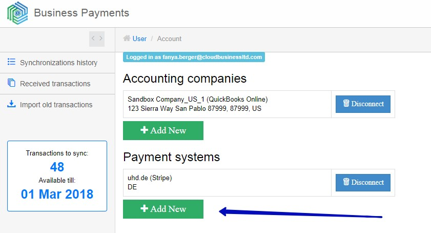 Sync PayPal and QuickBooks Online