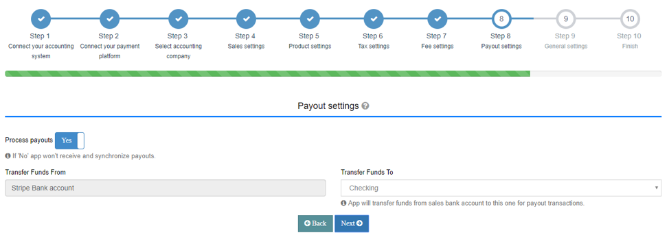Set up your Payout settings Tab