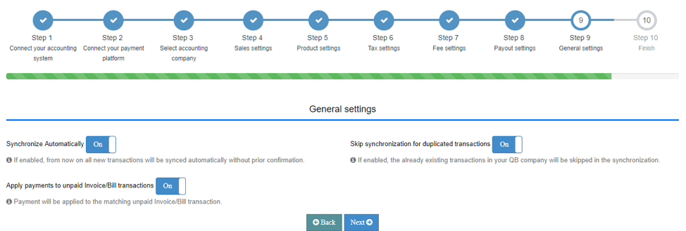 Set up your General settings Tab