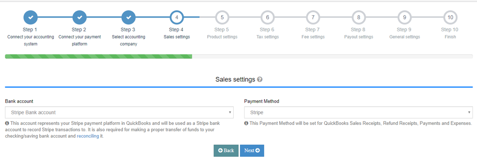 Set up your Sales Settings Tab