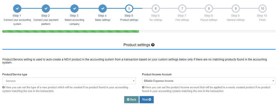 Set up your Product Settings Tab