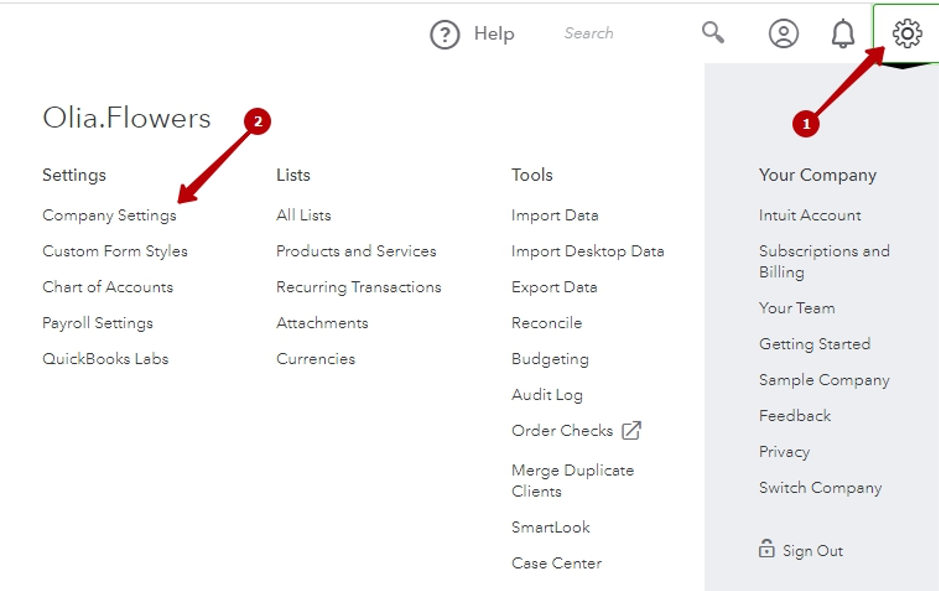 How to enable class tracking in QuickBooks Online