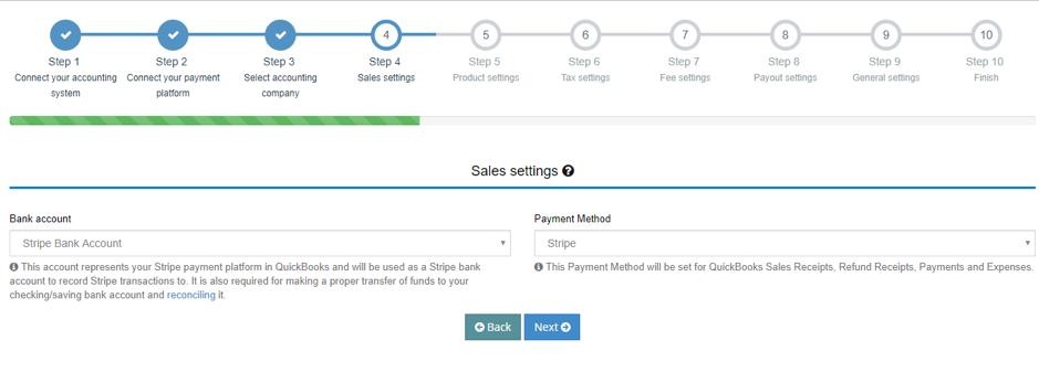 Sales Settings